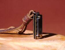 Echtleder Herren-Schmuck Kette Mundharmonika Geschenk für Mann Männer