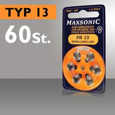 60 Batterie Per Apparecchi Acustici Maxsonic Batteria Apparecchio Acustico PR 13