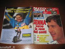 AUTOSPRINT 1995/50=CASCHI D'ORO=MICHAEL SCHUMACHER=AYRTON SENNA 20 MESI DOPO=