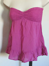 NEW KIRRA SIZE WOMEN/JUNIORS X-SML MAGENTA ELASTIC TOP SWING LOWER STRAPLESS TOP