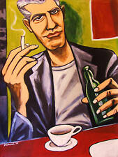 ANTHONY BOURDAIN PRINT poster medium raw no reservations kitchen confidential