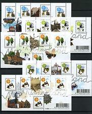 Beautiful Netherlands - Mooi Nederland 2008 5 souvenirsheets -  MNH - Perfins
