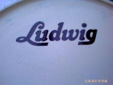 De colección Ludwig STICKER/DECAL tipo (negro para Blanco Bassdrum Cabezas) una copia. *