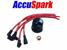Ford Anglia 25D ,Distributor side cap AccuSpark Red Rotor Arm and HT leads