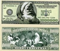 Traditional 1 Million Dollars Christmas Novelty Money Great Christmas Present