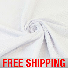 """White Football Mesh Jersey Fabric - 60"""" Wide - Style# 734701 - Free Shipping"""