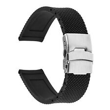 TRUMiRR 22mm Silicone Rubber Watch Band Bracelet Strap NEW FREE SHIPPING