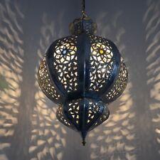 Orientalische marokkanische Orient Lampe Hängeleuchte Hängelampe Silber KHYK_S