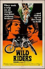 """Wild Riders Movie Poster 1971 1 Sheet 27x41"""" + 3 8x10"""" Photos Motorcycles Harley"""