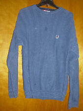 Men's Ralph Lauren Chaps Medium Knit Blue Gun Metal Cotton Pullover Sweater L