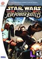Star Wars Jedi Power Battles Sega Dreamcast Framed Print (Man Cave Picture Art)