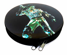 Michael Jackson CD / DVD case-Metal with zip opener-Double sided image NEW