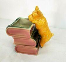 Scottie Dog on Stack of Books Planter Vase Vintage Desirable