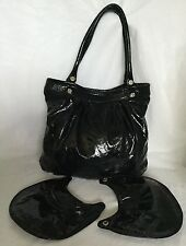 Large DOMA (Industries Argentine) Blk Patent Leather Tote/Shoulder Bag / Handbag