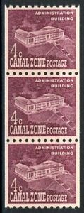 Canal Zone Administrative Building Well-Centered Strip 3 MNH Scott 154 Shiny Gum