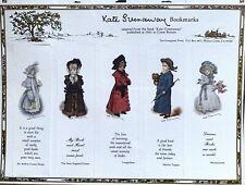 2 KATE GREENAWAY 1901 Bookmarks  Plus 5 Advertising Card Bookmarks