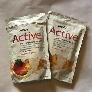Plexus ACTIVE Clean Lasting Energy Peach Mango 30 Packets Total * 2 bags.