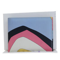 Auth EMILIO PUCCI Logos Bifold Wallet Purse Leather Multi-Color Italy 01EP979