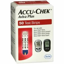 New 50ct  Accu-Chek Aviva Plus Diabetic Blood Glucose Test Strips Exp 1/2020
