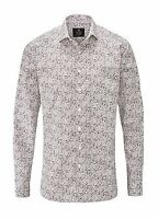 Skopes Casual Print Tailored Fit Shirt Mens Pink/GreyDapple UK Size 2XL *REF49