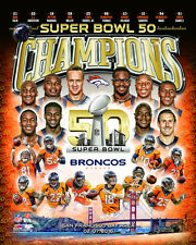 DENVER BRONCOS 2015-2016 NFL LICENSED Super Bowl 50 Champions 8X10 Team Photo