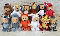 "Disney Store Winnie the Pooh 8"" Mini Bean Bag Chinese Zodiac Animal Complete Set"