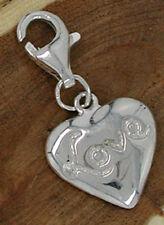Charms Anhänger Herz Love Echt Silber 925 Charm Sterlingsilber Damen Kinder