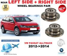 FOR VW PASSAT ALLTRACK REAR WHEEL BEARINGS PAIR 2012->2014 LEFT and RIGHT SIDE
