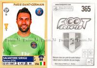 """RARE !! Sticker SALVATORE SIRIGU """"FRENCH FOOT 2014-2015"""" Panini"""