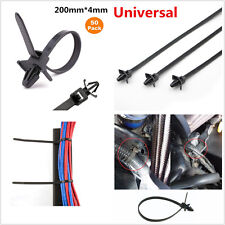 50Pcs 200mm Universal Automotive Cable Strap Push Mount Wire Tie Retainer Clamps