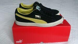 Puma Clyde Black - Sulphur Yellow US8 UK7 Eur 40,5 Vtg