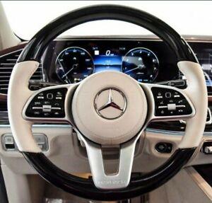 Mercedes-Benz OEM X290 X463 W167 C190 AMG Piano Black & Leather Steering Wheel