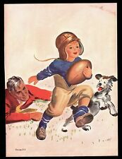 >Vintage Salesman Sample? 1930s-40s College Football Program Cover NOT A REPRO!