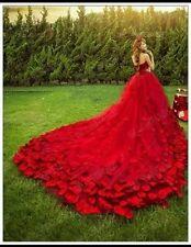 Reino Unido Nuevo Marfil/Rojo/Rosa/Azul/Champagne Rosa Vestido para Boda Traje de Novia Talla 6-16