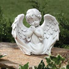 Praying Angel Cherub Heaven Memorial Outdoor Indoor Patio Garden Statue Decor