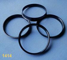 (1414) 4 Stück  Zentrierringe 74,1 / 72,6 mm schwarz für Alufelgen