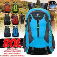 80L Large Outdoor Hiking Backpack Travel Camping Cycling Outdoor Waterproof Bag