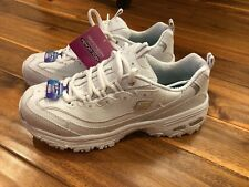 Skechers D'Lites With Air-Cooled Memory foam Shoes 11931 - Women's Size 9, White