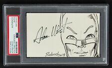 """1966 Adam West """"Batman"""" Signed 3x5 Sketch Card (PSA/DNA Slabbed)"""
