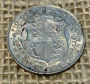 1916 George 5th Silver Halfcrown 0.9250 VF