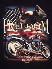 American Riders: Freedom Motorcycles Choppers Bikes Biker Apparel T Shirt XL