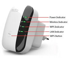 EU 300Mbps 802.11 Wifi Repeater Wireless-N AP Range Signal Extender Booster Plug