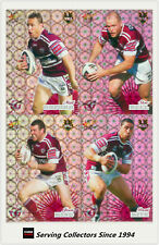 2008 Select NRL Champions Cards Holofoil Parallel Team Set Manly (12)
