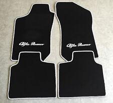 Autoteppich Fußmatten für Alfa Romeo 145 146 schwarz weiss 4teilig Neuware