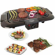 Electric Table Top Grill BBQ Barbecue Garden Camping Indoor Smoke Free Cooking