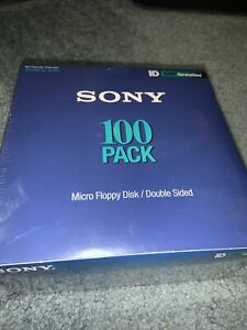 """NEW SEALED 98' Sony HD IBM Formatted 3.5"""" Micro Floppy Disk DoubleSided 100 Pack"""