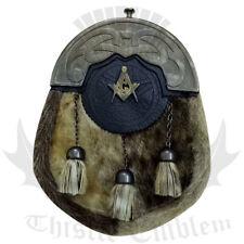 ST Men's Full Dress kilt Sporran Antique Cantle/kilt sporrans Masonic Badge/Kilt