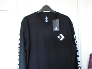 CONVERSE BLACK LONG SLEEVED TOP SIZE M