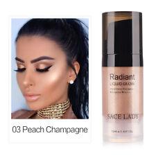 Liquid Brighten Shimmer Shiny Face Illuminator Glow Kit Bronzer Highlight Set Peach Champagne