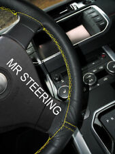 LEATHER STEERING WHEEL COVER FOR JEEP WRANGLER 3 JK 2007-17 YELLOW DOUBLE STITCH